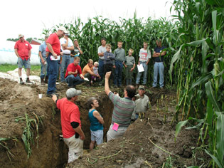 At a local farm education day, everyone learns about soil and how to protect it.